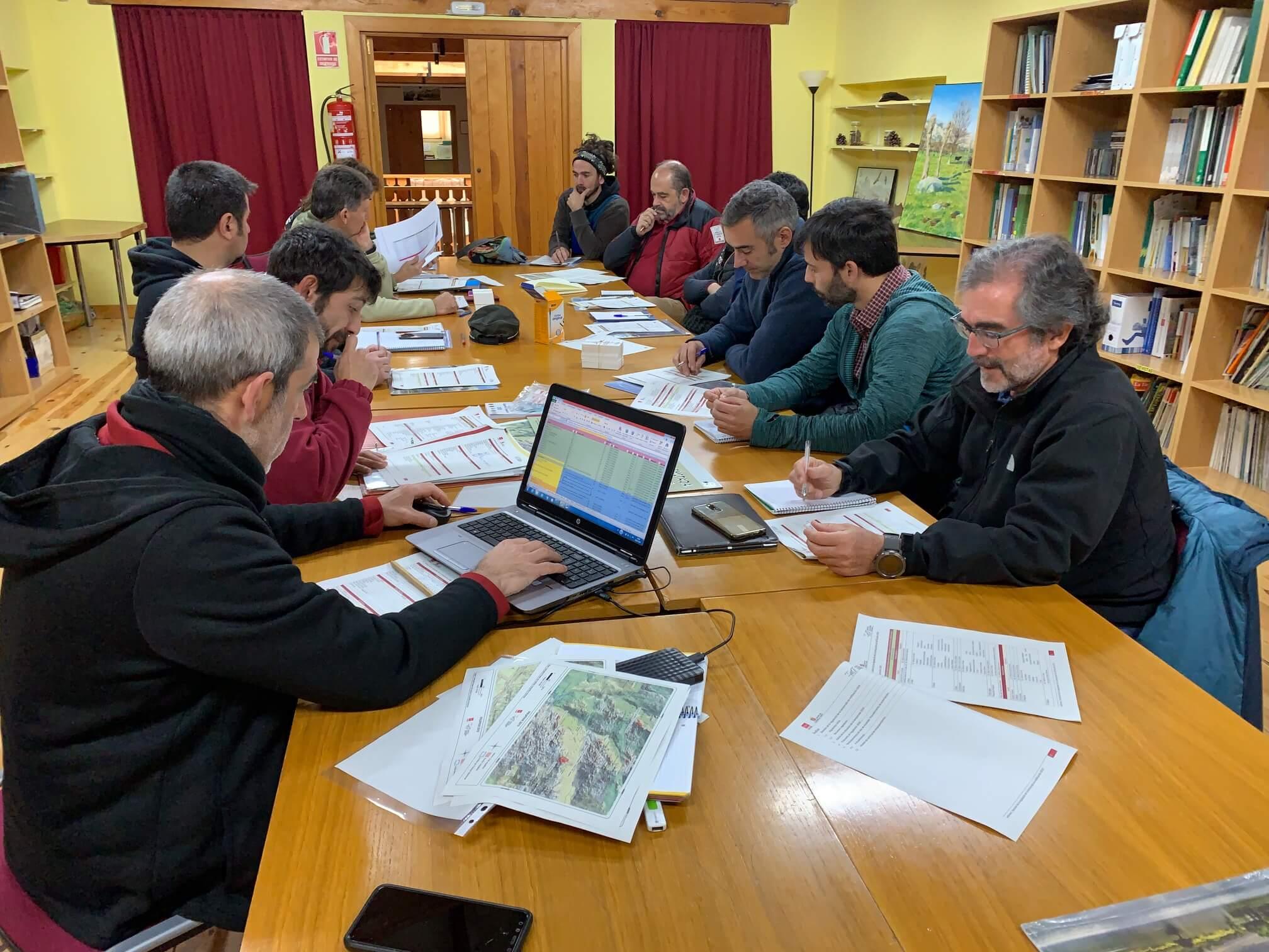 Reunión Regulación Dinámica Escalada Parque Nacional Sierra de Guadarrama